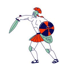 legionary soldier roman warrior gladiator wearing vector image