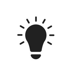 Lightbulb ideas flat icon vector
