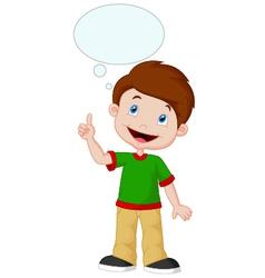 Little boy with big idea vector image