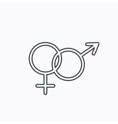Male and female icon Traditional sexuality sign vector image