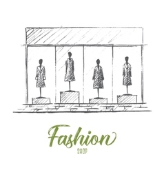 Mannequins in fashion shop vector image