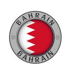 Medallion with name country bahrain vector