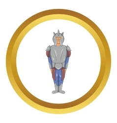 Medieval knight icon vector