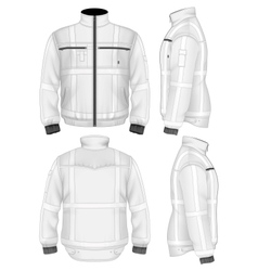 Mens reflective safety jacket vector