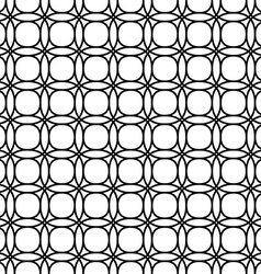 Monochrome seamless double ring pattern vector