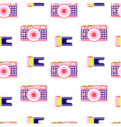 pattern camera film vector image