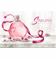 Perfume background cosmetic product fragrance vector