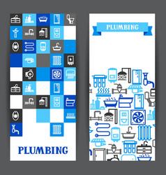 Plumbing banners design vector