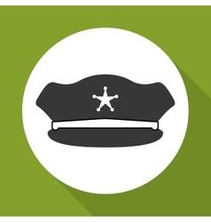 Police hat design vector