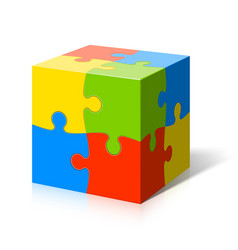 Puzzle cube vector