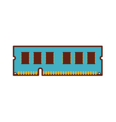 random access memory chips for a pc vector image