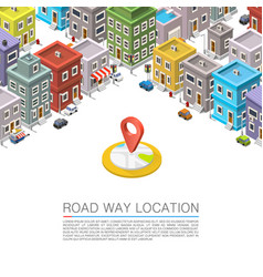 Road in the city isometric vector