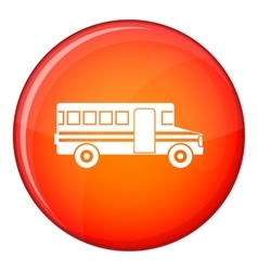 School bus icon flat style vector