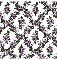 seamless pattern in vintage style with rosa vector image