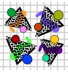 set of simillars memphis compositions vector image