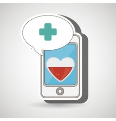 smartphone cross service medical vector image