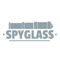 Spyglass logo simple gray style vector