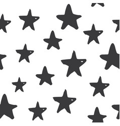 star seamless pattern hand drawn sketched doodle vector image