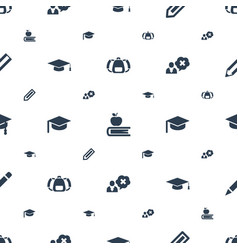Student icons pattern seamless white background vector