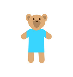 teddy bear wearing sweater vector image