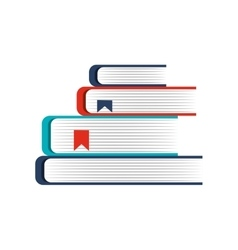 Text book pile isolated icon vector
