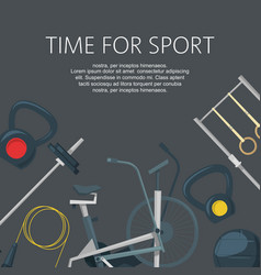 Time for sport fitness workout in club or center vector