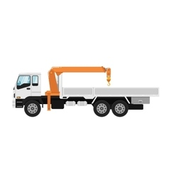Truck mounted crane isolated on white background vector