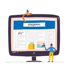 web design mockup designer vector image