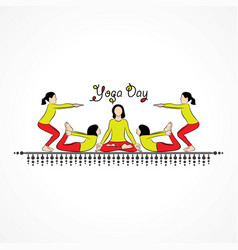woman international yoga day vector image