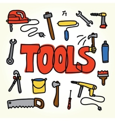 Workshop tools set vector image