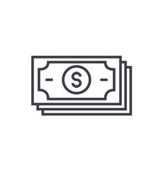 banknotesdollars line icon sign vector image