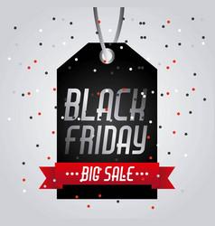 black friday big sale tag price shopping confetti vector image vector image