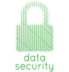 Digital Data Security Lock Text vector image vector image