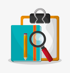 file examination related icons image vector image vector image