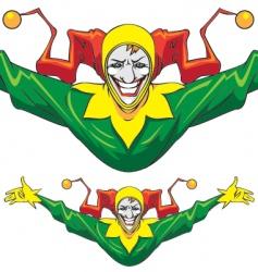 joker man vector image