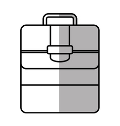 portfolio suitcase travel business line shadow vector image