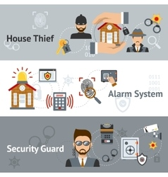 Security Banner Set vector image