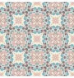 Floral Pattern Blue Brown Curve Elements vector image