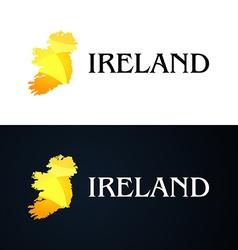 Golden Logo with Ireland Contour vector image