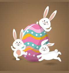 happy easter rabbit day icon vector image vector image