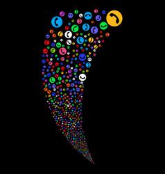 phone number random stream vector image vector image