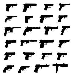 pistols vector image vector image