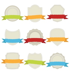 plaques and ribbons vector image vector image