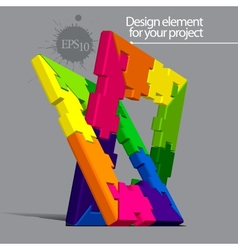 Puzzle element for your project vector image vector image