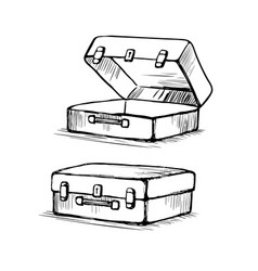 suitcase is open and closed vector image vector image