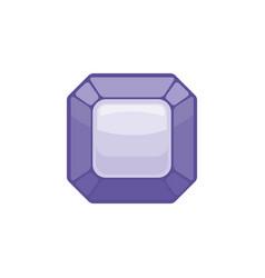 amethyst gemstone isolated jewelry purple stone vector image