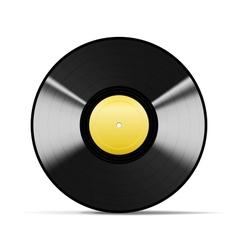 Black Vinyl vector image vector image