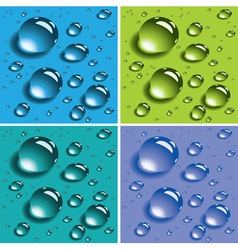 colorful water drops vector image vector image