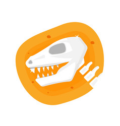 dinosaur icon archaeological paleontology icon vector image