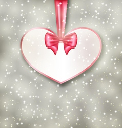 Greeting paper card made of heart shape Valentine vector image
